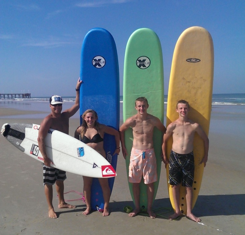 Group of Students at Surf Camp